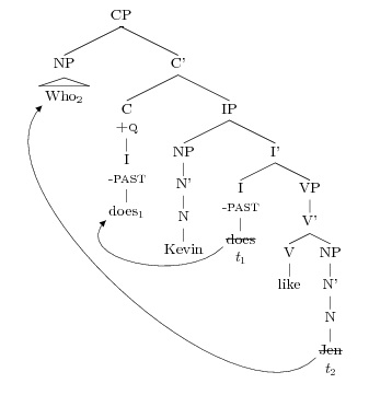 Drawing Question Syntax Trees – Amy Reynolds